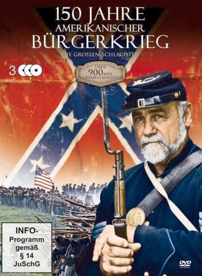 150 Jahre amerikanischer Bürgerkrieg. 3 DVDs.