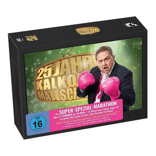 25 Jahre Kalkofes Mattscheibe - Der Super-Spezial-Marathon. 10 DVDs, 1 CD.