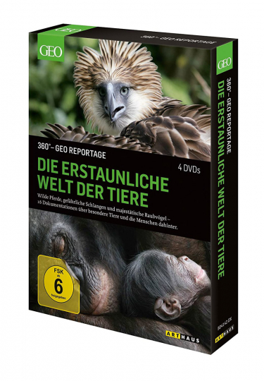 360 Geo-Reportage: Die erstaunliche Welt der Tiere. 4 DVDs.
