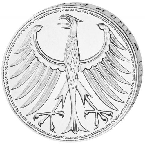 5 DM-Münze Silberadler - Der legendäre 'Heiermann' 4 Münzen im Set
