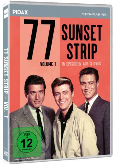 77 Sunset Strip - Volume 1. 3 DVDs.