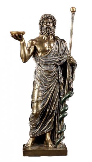 Aesculap bronziert und koloriert