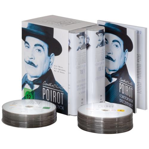 Agatha Christie's Hercule Poirot Collector's Box (Komplette Serie). 45 DVDs.