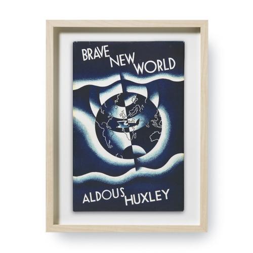 Aldous Huxley. Brave New World. Erstausgaben Buchcover. Kunstdruck.