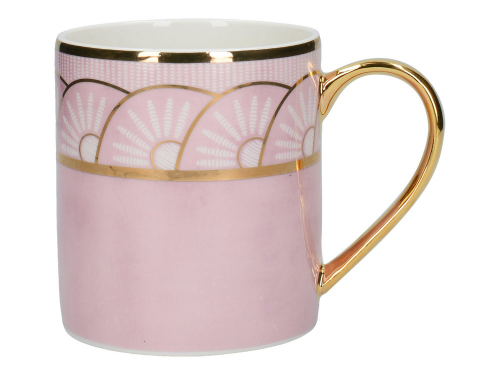 Art déco-Becher »Kaiserin Joséphine«, rosé.