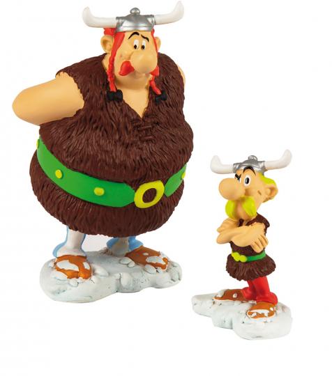 Asterix und Obelix als Wikinger.