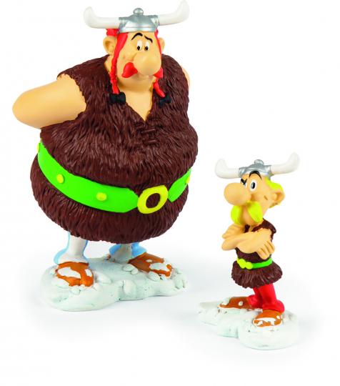 Asterix und Obelix bei den Wikingern. Edle Sammlerfiguren.