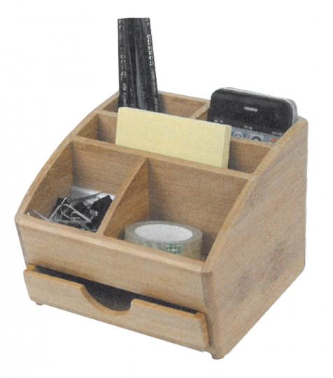 Bambus , Schreibtischständer Schublade klein