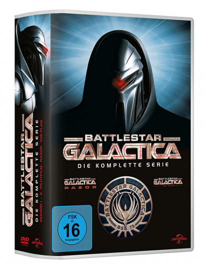 Battlestar Galactica (Komplette Serie). 25 DVDs.