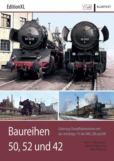 Baureihen 50, 52 und 42. Güterzug-Dampflokomotiven mit der Achsfolge 1'E der DRG, DB und DR.