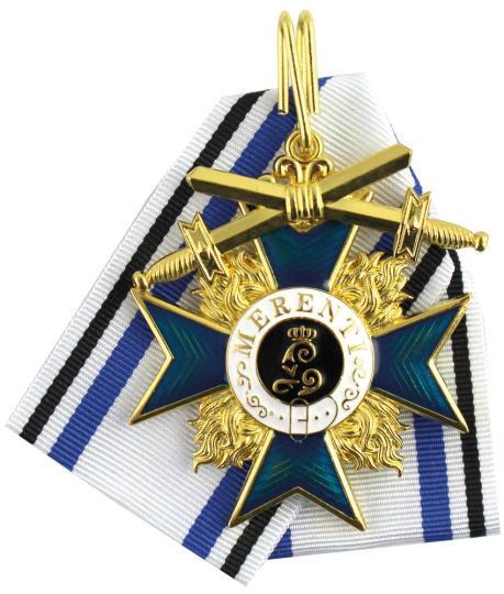 Bayerischer Militärverdienstorden mit Schwertern, am Halsband, 2. Klasse