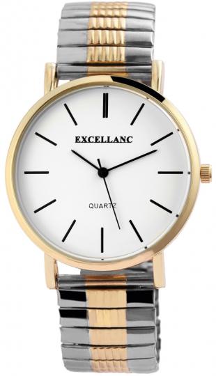 Bicolor-Armbanduhr für Herren.