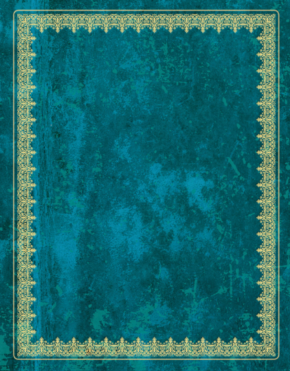 Blank Book Notizbuch. Lederlook blau, groß.