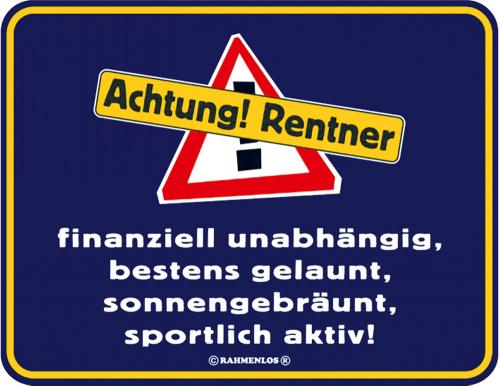 «Achtung Rentner«.