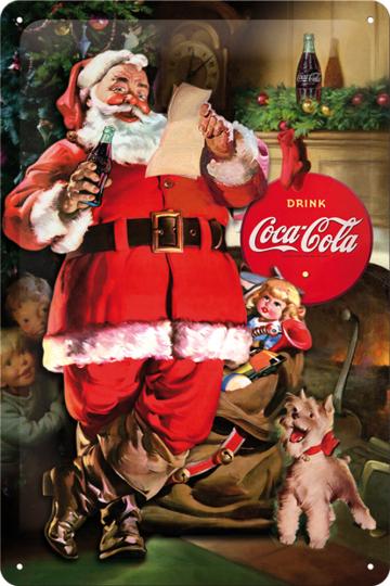 Classic Santa Claus Coca Cola Collage