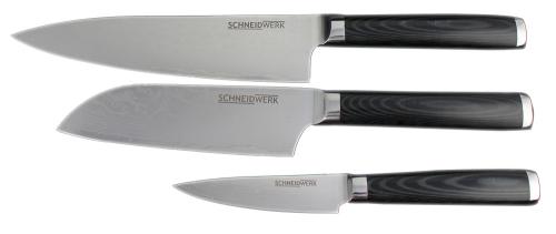 Damast-Kochmesser-Set.