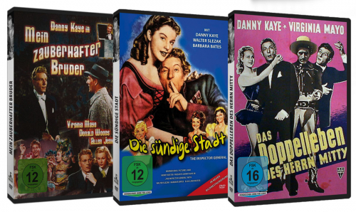 Danny Kaye Edition. 3 DVDs