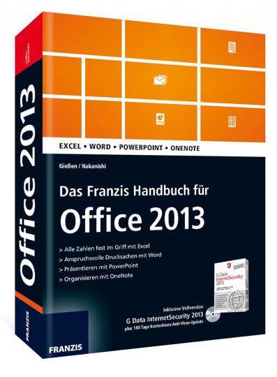 Das Franzis Handbuch für Office 2013 mit CD-ROM