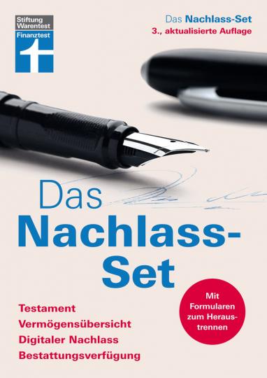 Das Nachlass-Set. Testament, Vermögensübersicht, Digitaler Nachlass, Bestattungsverfügung.