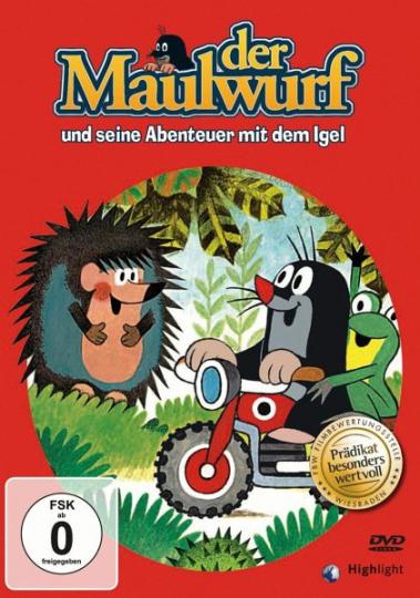 Der Maulwurf und seine Abenteuer mit dem Igel. DVD.