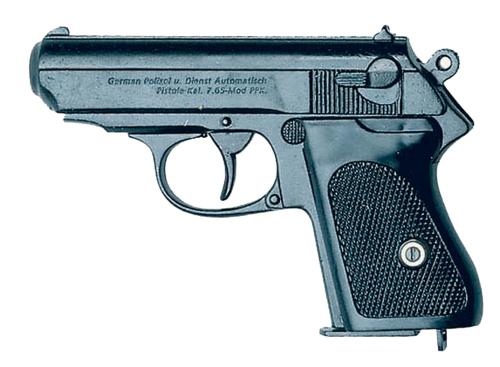 Deutsche Polizeipistole, nicht schussfähig.