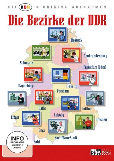 Die DDR in Originalaufnahmen: Die Bezirke der DDR. 2 DVDs.