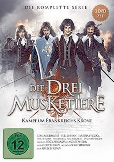 Die drei Musketiere - Kampf um Frankreichs Krone (Komplette Serie). 3 DVDs.