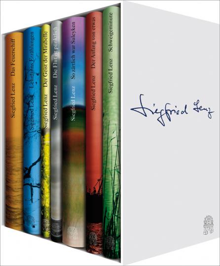 Die kleine Siegfried-Lenz-Bibliothek. Sieben Leinenbände im Schuber.