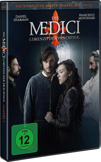 Die Medici Staffel 3 - Lorenzo der Prächtige (finale Staffel). 3 DVDs.