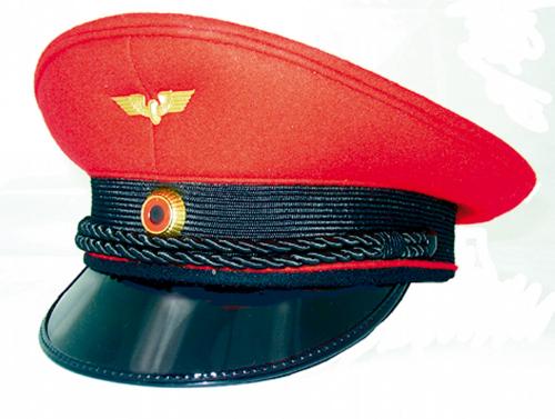 Die Stationsvorstehermütze Rotkäppchen - Größe 57