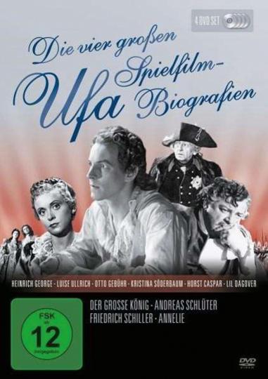 Die vier großen UFA Spielfilm-Biografien. 4 DVDs.