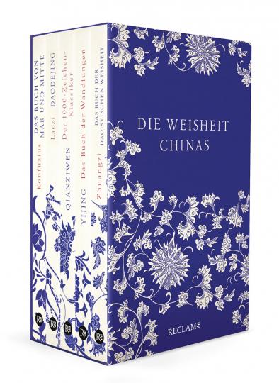 Die Weisheit Chinas. Yijing, Daodejing, Zhuangzi, Zhongyong, Qianziwen. Fünf Bände in Kassette.