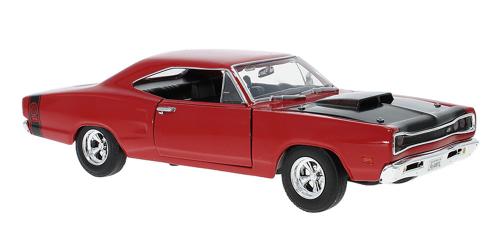 Dodge Coronet Super Bee 1969 - Modell 1:24, rot/schwarz