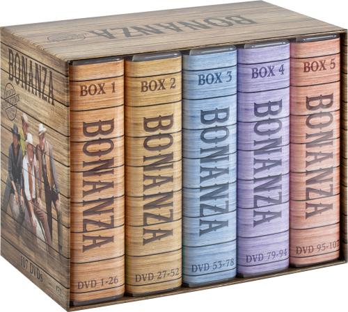 DVDs Bonanza (Komplettbox).107 DVDs.