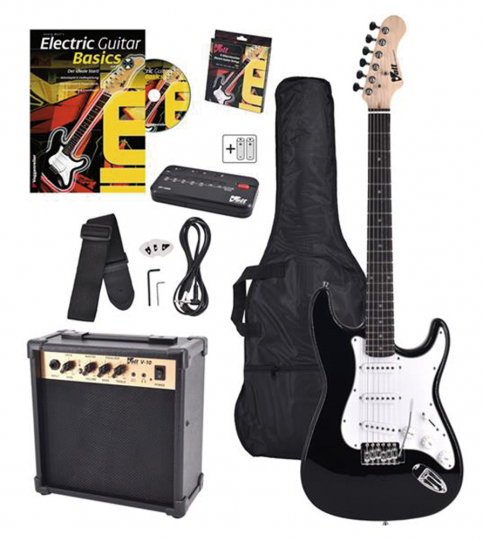 E-Gitarren-Set EG-100. Mit Verstärker und Zubehör.