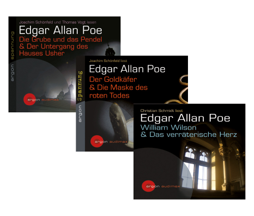 Edgar Allan Poe. Seine spannendsten Erzählungen. 5 CDs im Set.