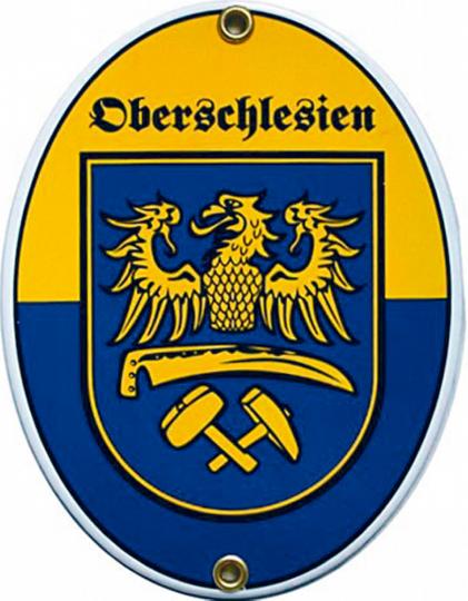 Emaille-Schild Oberschlesien