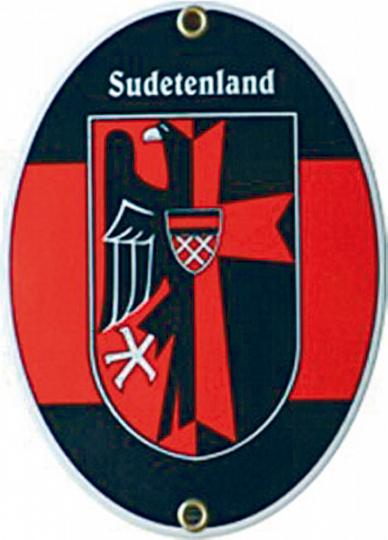 Emaille Schild Sudetenland