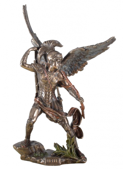 Erzengel Uriel mit Feuer und Bogen