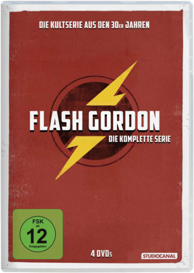 Flash Gordon. Komplette Serie. 4 DVDs.