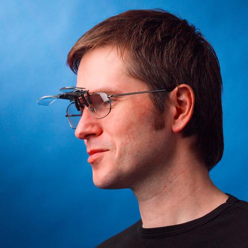 Flip & Focus Lupe in Brillenform