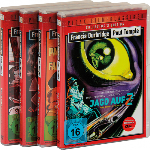 Francis Durbridge. Paul Temple Reihe. Der grüne Finger. Wer ist Rex? Jagd auf Z. Paul Temple und der Fall Marquis. 4 DVDs.