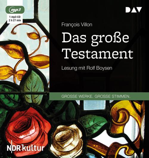 Francois Villon. Das große Testament. mp3-CD.