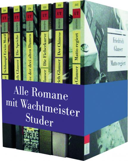 Friedrich Glauser. Die Wachtmeister-Studer-Romane. Alle sechs Romane in einer Kassette.