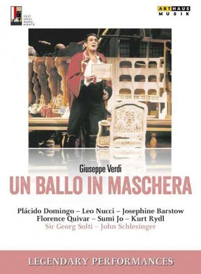 Giuseppe Verdi. Un Ballo in Maschera. DVD.