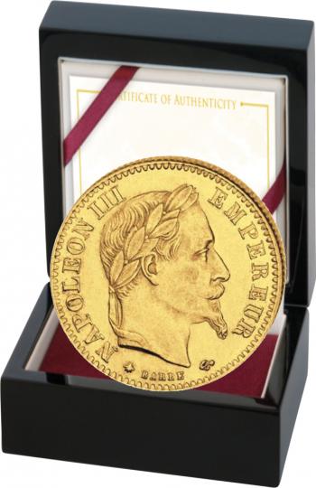 Goldmünze 10 FF mit Kranz Napoleon.