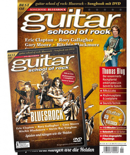 Guitar School of Rock. Bluesrock. Songbook mit DVD.