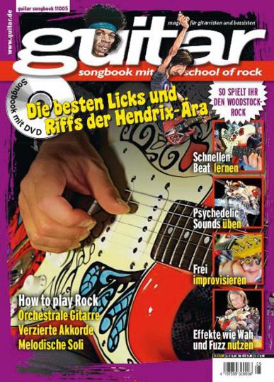 Guitar Songbook. School of Rock Vol. 6. Die besten Licks und Riffs der Hendrix-Ära. Mit DVD.
