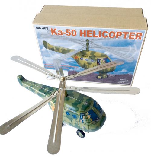 Helicopter grün aus Blech.