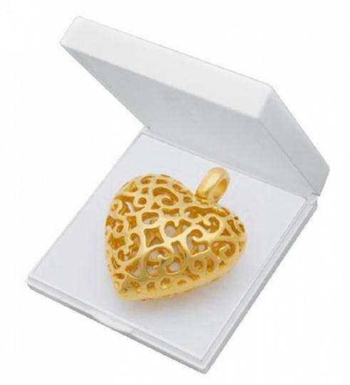 Herz Anhänger filigran - Silber, vergoldet